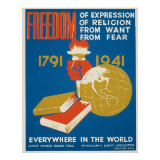 Freedom ~ Everywhere in the World Poster