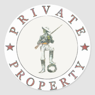Freedom Fighter Sticker Guarding Private Property