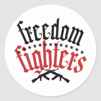 Freedom Fighters AK47 Classic Round Sticker