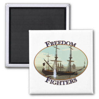 Freedom Fighters Square Magnet