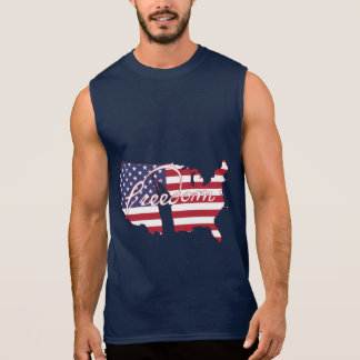 Freedom Flag American Country Liberty Sleeveless Shirt