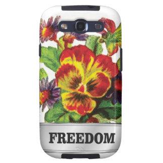 freedom flowers galaxy SIII case