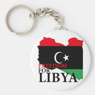 Freedom for Libya Basic Round Button Keychain