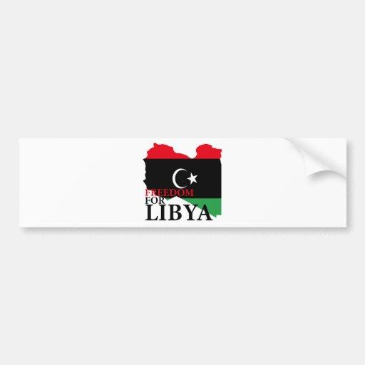 Freedom for Libya Bumper Sticker