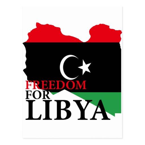 Freedom for Libya Postcard