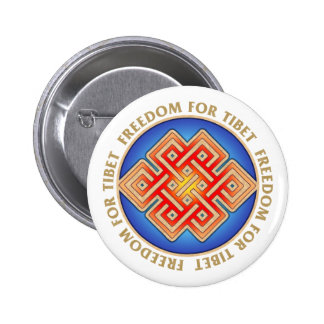 Freedom for Tibet Endless Knot Pattern 2 Inch Round Button