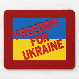 FREEDOM FOR UKRAINE with Flag Mouse Pad