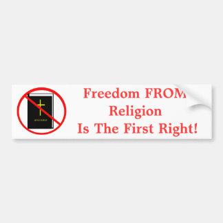 FREEDOM FROM RELIGION BUMPER STICKER