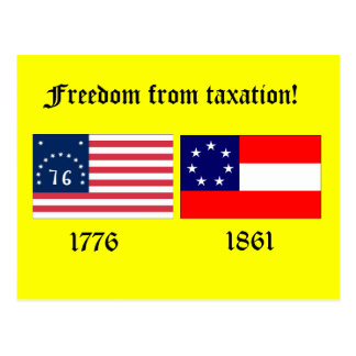 Freedom from Taxation Postcard