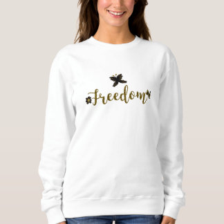 Freedom Golden Boho Spring Butterfly Stylish Chic Sweatshirt