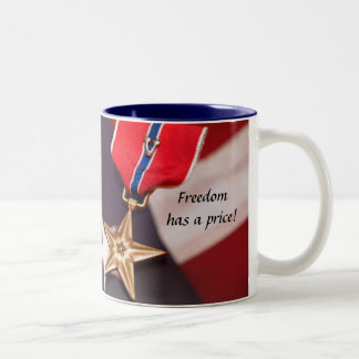 Freedom has a price! Two-Tone coffee mug