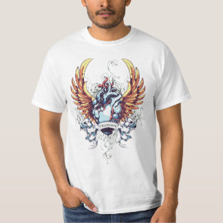 Freedom Heart Tattoo Style T-Shirt