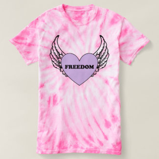 Freedom Heart with Wings Tie-Dye Shirt