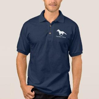 Freedom Horse White Graphic Polo Shirt