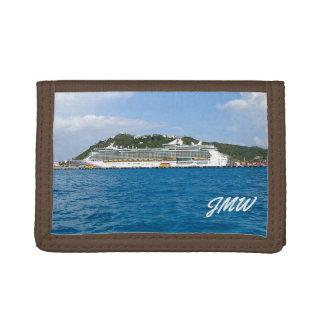 Freedom in St. Maarten Monogrammed Trifold Wallet