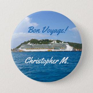 Freedom in St. Martin Personalized Bon Voyage 3 Inch Round Button