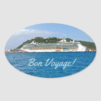 Freedom in the Caribbean Bon Voyage Oval Sticker