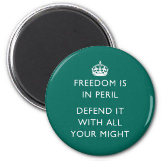 freedom is in peril defend it with all your might magnet
