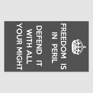 Freedom Is In Peril Sticker