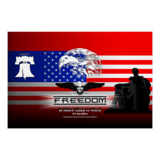 Freedom Is More Than A Word Hz Archival Poster