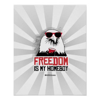 Freedom is my Homeboy Poster