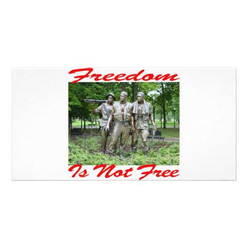 Freedom Is Not Free #005 Customized Photo Card