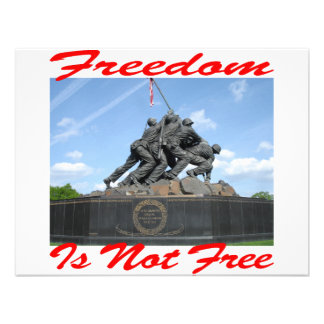 Freedom Is Not Free Personalized Announcement