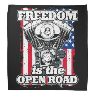 Freedom Is The Open Road American Flag Bikers Head Kerchiefs