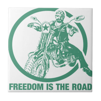 Freedom Is The Road - Biker Tiles