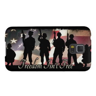 Freedom Isnt Free Military Soldier Silhouette Galaxy S5 Cases