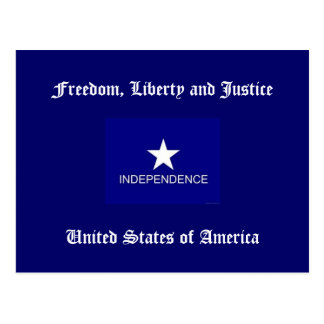 Freedom, Liberty and Justice Postcard