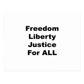 Freedom Liberty Justice for All Postcard
