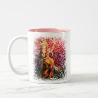 "freedom, ""Live Free...And beautysurrounds you..... Two-Tone Coffee Mug"