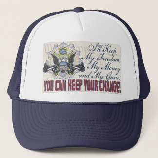 Freedom Money Guns Gun-Toting Eagle Gear Trucker Hat
