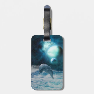 Freedom Of Dolphins Bag Tag