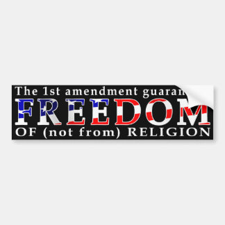 Freedom of Religion bumper sticker