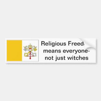 freedom of religion for Catholics Bumper Sticker