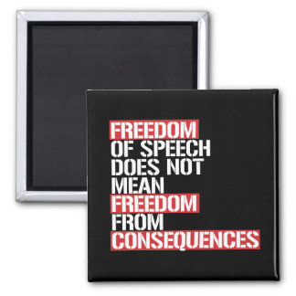 Freedom of Speech does not mean Freedom from Conse Magnet