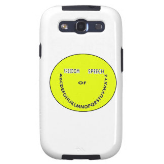 Freedom of speech smiley face samsung galaxy SIII cover