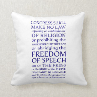 Freedom of Speech Throw Pillow