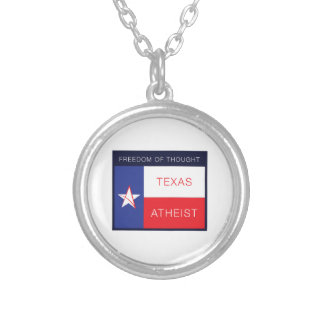 Freedom of thought silver plated necklace