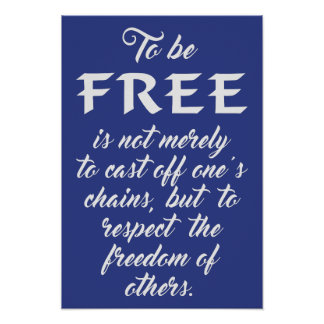 Freedom Quote custom color poster