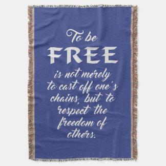 Freedom Quote custom color throw blanket