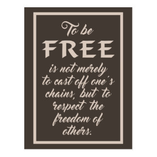 Freedom Quote postcard