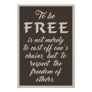 Freedom Quote poster