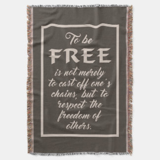Freedom Quote throw blanket