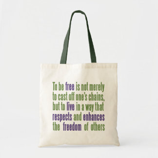 Freedom Quote tote bags
