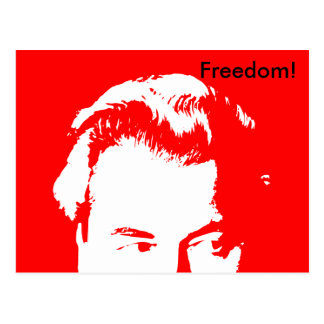 Freedom! Red (Updated) Postcard