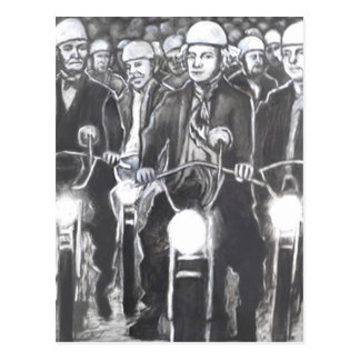 Freedom Riders, Charcoal Art Products Postcard
