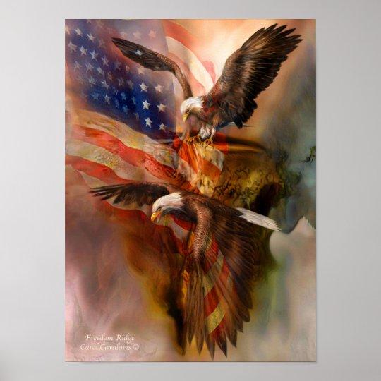 Freedom Ridge-Eagle Art Poster/Print Poster